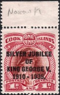 Cook Islands 1935 SG113a,113b,114a,115a  RSJ Narrow Letter Varieties  Lightly Mounted Mint - Cookeilanden