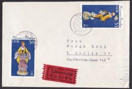 East Germany (GDR/DDR): Express Cover, 1980, 2 Stamps Porcelain, Label (traces Of Use) - Briefe U. Dokumente