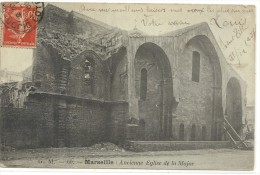 - MARSEILLE - 60-ANCIENNE EGLISE DE LA MAJOR -- JOLI AFFR SUR RECTO DE 1908-- - Marseilles