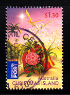 Christmas Island Used 2010 Issue $1.30 Christmas Present On Beach - Christmas - Sheet Stamp - Christmas Island