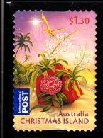 Christmas Island Used 2010 Issue $1.30 Christmas Present On Beach - Christmas - Booklet Stamp - Christmas Island