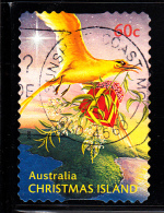 Christmas Island Used 2010 Issue 60c Bird Delivering Present - Christmas - Booklet Stamp - Christmas Island