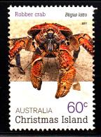 Christmas Island Used 2011 Issue 60c Robber Crab - Christmas Island
