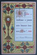 IMAGE PIEUSE  (chromo L BOULET Fin XIXème) L' EUCHARISTIE - Calice Enluminure & PAROLE DE SAINTE THERESE / SANTINO - Andachtsbilder