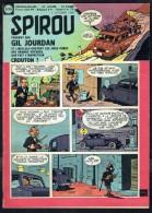 """SPIROU N° 1173 -  Année 1960 -  Couverture """" GIL JOURDAN """" De M. TILLIEUX. - Spirou Magazine"""