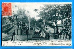 F585, Rio De Janeiro, Festa De N. S. Da Penha, Précurseur, Circulée 1904 - Rio De Janeiro