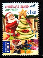 Christmas Island Used 2012 Issue $1.60 Santa Making Christmas Tree Sand Sculpture - Christmas - Sheet Stamp - Christmas Island