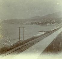 France Vacances En Cote D'Azur Vue De La Cote Ancienne Photo Amateur Stereoscope Pourtoy 1900 - Photos Stéréoscopiques