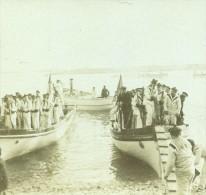 France Vacances En Cote D'Azur Marins Barques Ancienne Photo Amateur Stereoscope Pourtoy 1900 - Stereoscopic