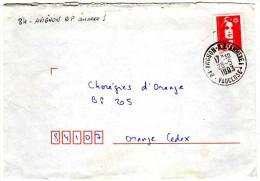 84 - AVIGNON-R.P-ANNEXE 1 - VAUCLUSE  == 28.5.1993 == S/2.50 Marianne De Briat Rouge - Poststempel (Briefe)