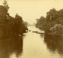 Royaume Uni Ballade En Barque Sur La Riviere Ancienne Photo Amateur Stereoscope Pourtoy 1900 - Stereoscopic