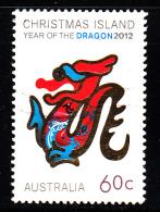 Christmas Island Used 2012 Issue 60c Year Of The Dragon - Christmas Island