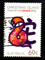 Christmas Island Used 2013 Issue 60c Year Of The Snake - Christmas Island