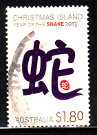 Christmas Island Used 2013 Issue $1.80 Year Of The Snake - Christmas Island