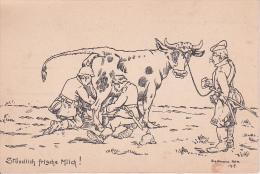 AK Stündlich Frische Milch - Deutsches Heer - Humor - Patriotika - Zeichnung Schellmann - 1915 (20675) - Humor