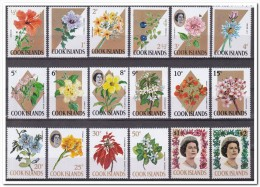 Cook Islands 1967, Postfris MNH, Royal House, Flowers ( Last 2 Stamps Are MH, Plakker ) - Cookeilanden