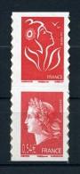 N° P4109 PAIRE CHEFFER - LAMOUCHE VERTICALE ISSUE DE CARNET NEUF ** - 2004-08 Marianne De Lamouche
