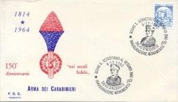 Italia 1992 Annullo Speciale Su Busta San Sebastiano Al Vesuvio Inaugurazione Monumento A Salvo D´Acquisto Carabinieri - WW2
