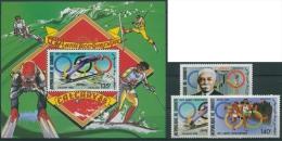 Djibouti 1987 Olympiade 495/97 Block 140 Postfrisch (G4745) - Dschibuti (1977-...)