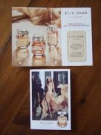 Elie Saab Le Parfum Carte Parfum Size Little Less Than Carte Postale Avec Patch - Modern (from 1961)