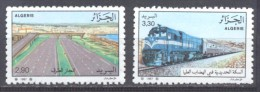 Algérie YT N°914/915 Transports Et Communications Neuf ** - Algeria (1962-...)
