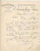 FRESNAY SUR SARTHE MAISON ARSENE CHARDON BRIANCHON DISTILLATION DE LIQUEURS VINS ALCOOLS ANNEE 1897 - France
