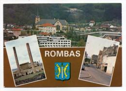 ROMBAS--Multivues (rue Raymond-Mondon,usines,agglomération Et Hauts Fourneaux),blason N°110  éd Europ - Other Municipalities