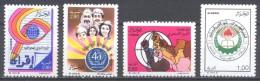 Algérie YT N°932/935 Alphabétisation - O.M.S. - Apratheid - F.L.N. Neuf ** - Algeria (1962-...)