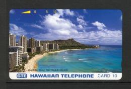 Hawaii GTE - 1990 10 Unit - Diamond Head - Silver Reverse - HAW-01 - Mint - Hawaii