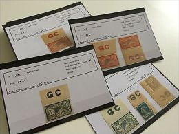 FRANCE: Collection Timbres Papier GC Merson, Semeuses, Taxe Dont Bord De Feuille - France