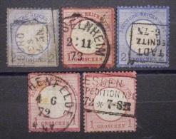 Dt.Reich Brustschilde 1872 Mi.Nr.5,19,20,4 Gestempelt        (M84) - Deutschland