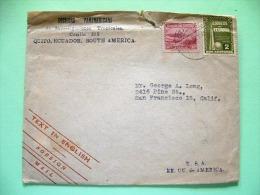 Ecuador 1945 Cover To USA - New York EXPO - Mountain - Equateur