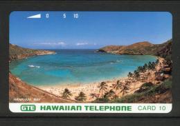 Hawaii GTE - 1993 10 Unit - Hanauma Bay - Green Letters - Bronze Reverse - HAW-08 - Mint - Hawaii