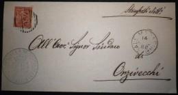 ANNULLI NUMERALI LOMBARDIA: NUMERALE SALE MARASINO Brescia - 1861-78 Vittorio Emanuele II