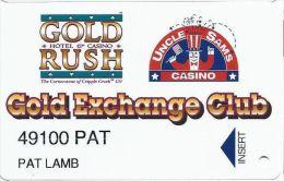 Gold Rush & Uncle Sam Casinos Cripple Creek CO - Small Insert Arrow  Slot Card - Casino Cards