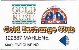 Gold Rush & Uncle Sam Casinos Cripple Creek CO - Large Insert Arrow  Slot Card - Casino Cards