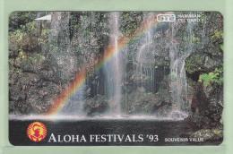 Hawaii GTE - 1993 3 Unit - Aloha Festival - Rainbow Falls - HAW-38 - Mint - Hawaii
