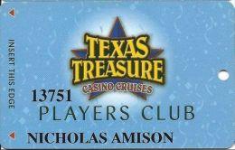 Texas Treasure Casino Cruises Players Club Card - Casino Cards