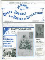 Revue  Le Monde De La Carte Postale & Du Papier De Collection  N: 7 1982 - Français