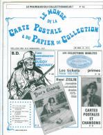 Revue  Le Monde De La Carte Postale & Du Papier De Collection  N:8 De 1982 - French