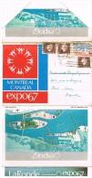 Carte - Lettre : Expo 67 De Montréal (12 Vues R/V Accordéon) - Montreal
