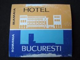 HOTEL CAMPING PENSION MOTEL SPA INN PALACE BUCURESTI BUCHAREST ROMANIA LUGGAGE LABEL ETIQUETTE AUFKLEBER DECAL STICKER - Hotel Labels