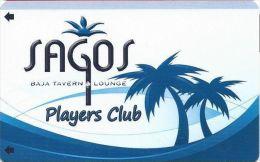 Sagos Baja Tavern & Lounge Las Vegas Players Club Slot Card - Casino Cards