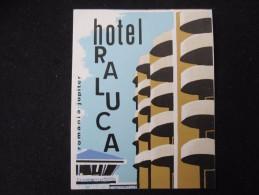 HOTEL CAMPING PENSION MOTEL SPA INN RALUCA JUPITER BUCHAREST ROMANIA LUGGAGE LABEL ETIQUETTE AUFKLEBER DECAL STICKER - Zonder Classificatie
