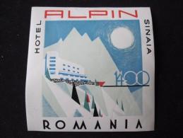 HOTEL CAMPING PENSION MOTEL SPA INN ALPIN SINAIA BUCHAREST ROMANIA LUGGAGE LABEL ETIQUETTE AUFKLEBER DECAL STICKER - Zonder Classificatie