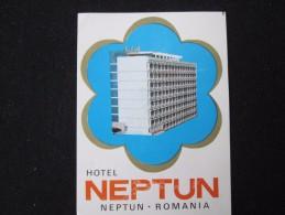 HOTEL CAMPING PENSION MOTEL SPA INN NEPTUN CARPATI BUCHAREST ROMANIA LUGGAGE LABEL ETIQUETTE AUFKLEBER DECAL STICKER - Zonder Classificatie
