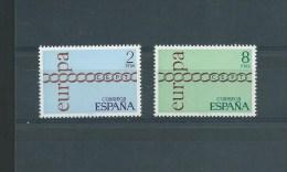 ESPAGNE 1971 EUROPA  2031-2032 MNH/** - 1931-Aujourd'hui: II. République - ....Juan Carlos I