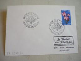 FDCSérie Des Fleurs 7/07/1973 2 Enveloppes - Lettres & Documents