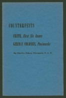 Counterfeits - Crete Greece First Six Issues - German Colonies Postmarks - 16 P. Ed.1943 - Thompson - In English - Falsos Y Reproducciones