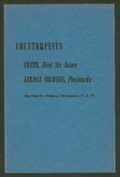 Counterfeits - Crete Greece First Six Issues - German Colonies Postmarks - 16 P. Ed.1943 - Thompson - In English - Fälschungen Und Nachmachungen